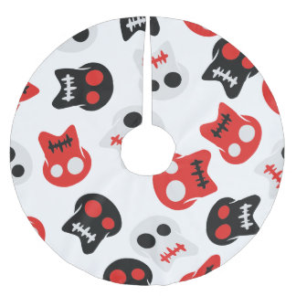 Comic Skull colorful pattern Brushed Polyester Tree Skirt