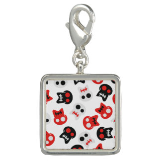 Comic Skull colorful pattern Charms