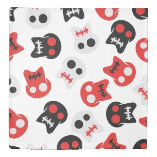 Comic Skull colorful pattern Duvet Cover