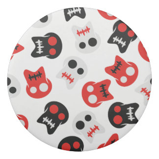 Comic Skull colorful pattern Eraser