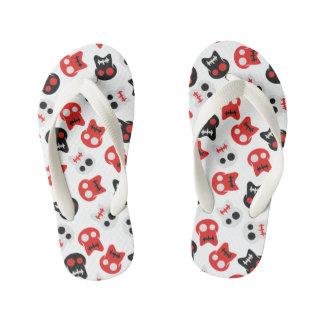 Comic Skull colorful pattern Kid's Flip Flops
