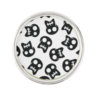 Comic Skull colorful pattern Lapel Pin