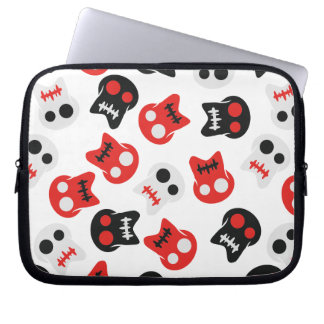 Comic Skull colorful pattern Laptop Sleeve