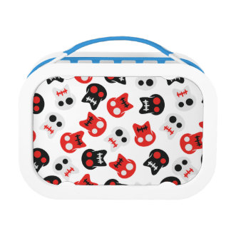 Comic Skull colorful pattern Lunch Box