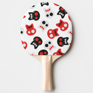 Comic Skull colorful pattern Ping Pong Paddle