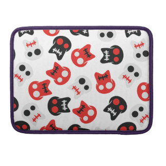 Comic Skull colorful pattern Sleeve For MacBook Pro