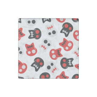 Comic Skull colorful pattern Stone Magnets
