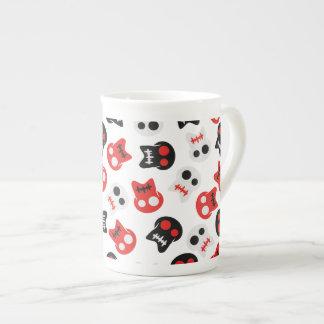 Comic Skull colorful pattern Tea Cup