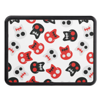 Comic Skull colorful pattern Trailer Hitch Cover