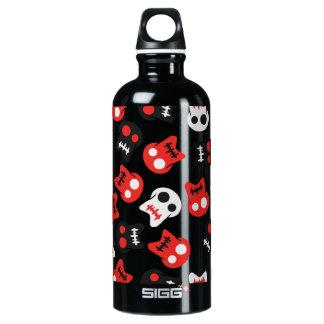 Comic Skull colorful pattern Water Bottle