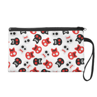 Comic Skull colorful pattern Wristlet