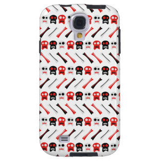Comic Skull with bones colorful pattern
