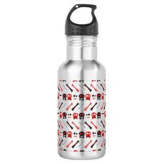 Comic Skull with bones colorful pattern 532 Ml Water Bottle