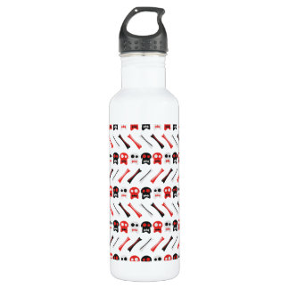 Comic Skull with bones colorful pattern 710 Ml Water Bottle