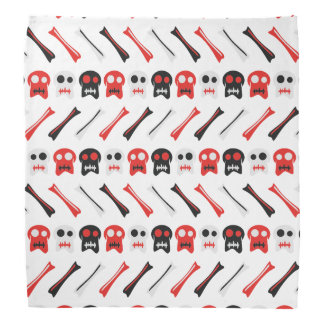 Comic Skull with bones colorful pattern Bandana