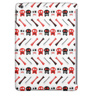 Comic Skull with bones colorful pattern Case For iPad Air