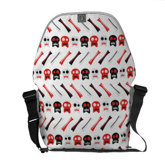 Comic Skull with bones colorful pattern Commuter Bags