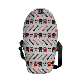 Comic Skull with bones colorful pattern Courier Bag