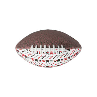 Comic Skull with bones colorful pattern Football