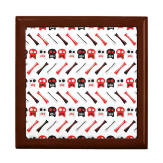 Comic Skull with bones colorful pattern Gift Box