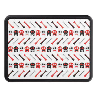 Comic Skull with bones colorful pattern Hitch Covers