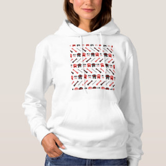 Comic Skull with bones colorful pattern Hoodie