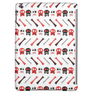 Comic Skull with bones colorful pattern iPad Air Cases