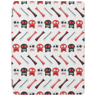 Comic Skull with bones colorful pattern iPad Cover