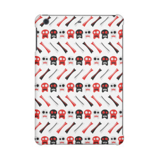 Comic Skull with bones colorful pattern iPad Mini Covers