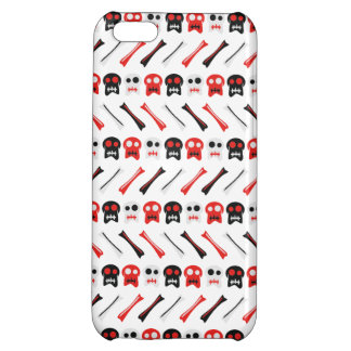 Comic Skull with bones colorful pattern iPhone 5C Case
