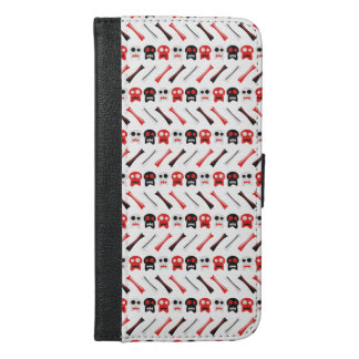 Comic Skull with bones colorful pattern iPhone 6/6s Plus Wallet Case