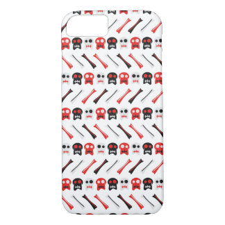 Comic Skull with bones colorful pattern iPhone 8/7 Case