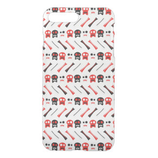 Comic Skull with bones colorful pattern iPhone 8 Plus/7 Plus Case