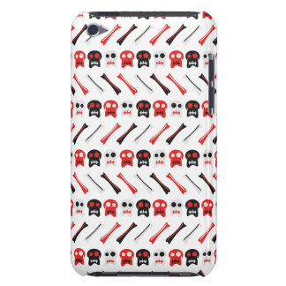 Comic Skull with bones colorful pattern iPod Case-Mate Cases