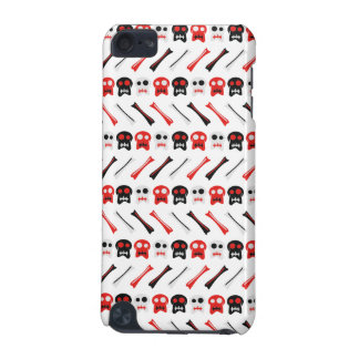 Comic Skull with bones colorful pattern iPod Touch 5G Case
