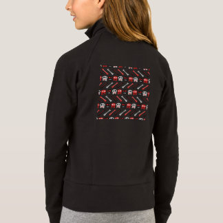 Comic Skull with bones colorful pattern Jacket