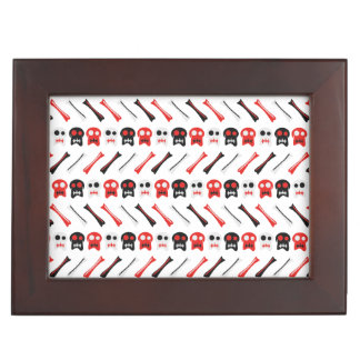 Comic Skull with bones colorful pattern Memory Boxes
