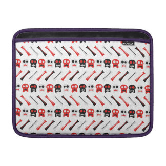 Comic Skull with bones colorful pattern Sleeves For MacBook Air