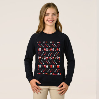 Comic Skull with bones colorful pattern Sweatshirt