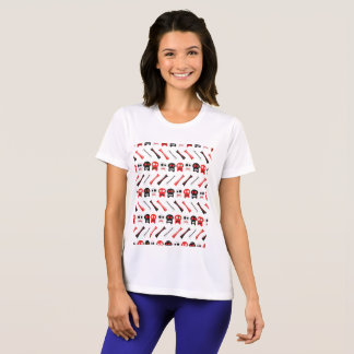 Comic Skull with bones colorful pattern T-Shirt
