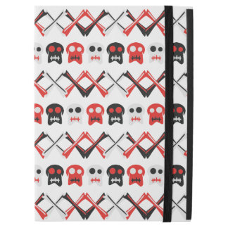 Comic Skull with crossed bones colorful pattern