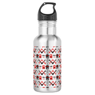 Comic Skull with crossed bones colorful pattern 532 Ml Water Bottle