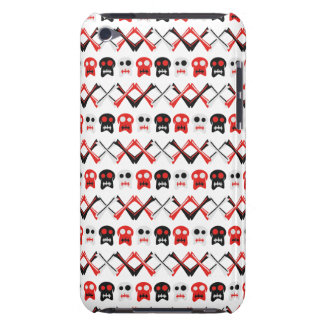 Comic Skull with crossed bones colorful pattern Barely There iPod Cover