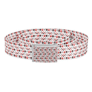 Comic Skull with crossed bones colorful pattern Belt