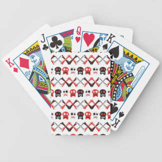 Comic Skull with crossed bones colorful pattern Bicycle Playing Cards