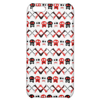 Comic Skull with crossed bones colorful pattern Case For iPhone 5C