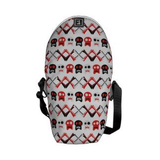 Comic Skull with crossed bones colorful pattern Commuter Bags