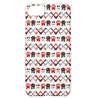 Comic Skull with crossed bones colorful pattern Cover For iPhone 5C