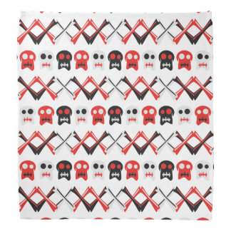 Comic Skull with crossed bones colorful pattern Do-rags