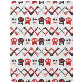 Comic Skull with crossed bones colorful pattern iPad Cover